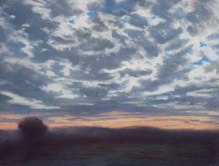 """""""Mackerel Sky"""" Pastel on paper, 18 x 24 inches, Signed F. Pieter Lefferts 2006, Sudden Skies series"""