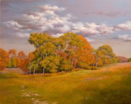 """Autumn Eloquence"" 2009, Oil on linen, 24 x 30 inches, Signed and dated lower left: Carolyn H Edlund 2009"