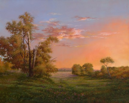 """Essence of Twilight"" 2010, Oil on linen, 24 x 30 inches, Signed and dated lower left: Carolyn H Edlund 2010"