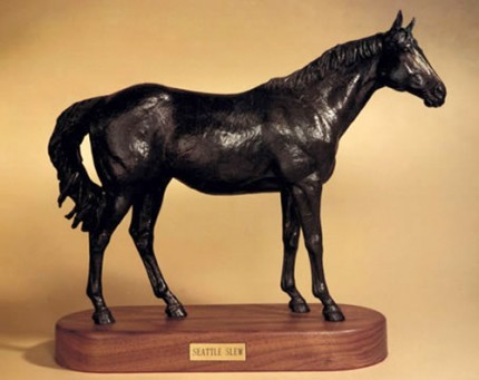 """""""Seattle Slew"""" Bronze, Edition: 28/75, 16 x 20 inches, 28 lbs, Signed & Numbered"""