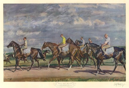"""Warren Hill, Newmarket"" Original print, Published by Frost & Reed, 1953, 16 x 25 inches, Signed in pencil"