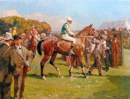 """At Hethersett Races"" 19 x 24 inches, A Royle Publications print from c. 1982"