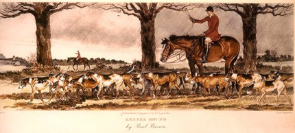 """Kennel Bound"" American Fox Hunting Scenes, The Derrydale Press, New York, 1937, Plate size: 17 ⅞ x 21 ¾ inches, Paper size: 22 ⅞ x 31 inches, with generous margins, Hand made Paper with deckle edges, Limited to 250 numbered and signed prints. SET #1 Belonged to Eugene Connett, President, Derrydale Press. Even though the set was advertised as being produced in an edition of 250, most collectors and dealers in sporting art believe that there were many fewer actually produced. Uncut and unframed. Mint condition.  FLAWLESS, NOT ANOTHER SET LIKE IT IN THE WORLD  Provenance: The Sporting Gallery and Bookshop, Inc, New York"