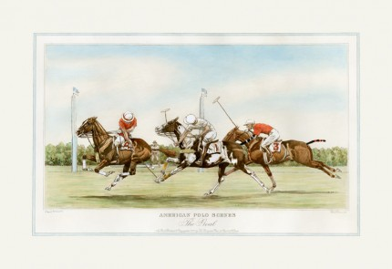 """The Goal"" American Polo Scenes, Derrydale Press 1930, Printed on imported handmade paper, Plate: 12 ½ x 20 inches, Paper: 17 x 24 inches, Signed lower left, Titles engraved in the same style as other sets of American Sporting scenes published by The Derrydale Press, 1930. Only 175 signed proofs were produced of each print, which makes a bona fide set of four rare and valuable."