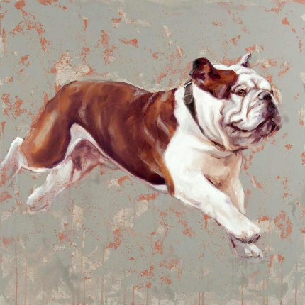 """""""Brindle Bully"""" Oil on canvas, Signed & Framed"""