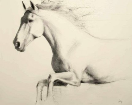 """""""Qurion"""" Charcoal on paper, A1, Signed"""