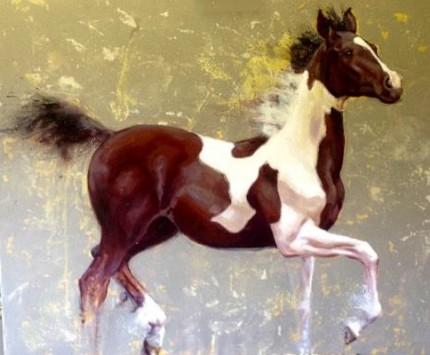 """""""Espirito Gitano"""" Oil on canvas, 30 x 36 inches, Signed"""