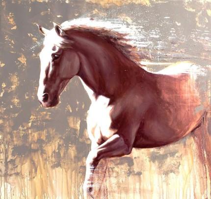 """""""Phaeton"""" Oil on canvas, Signed & Framed"""