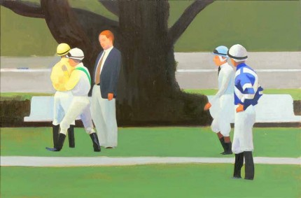 """Belmont"" 2006, Oil on linen on panel, 13 x 20 inches"