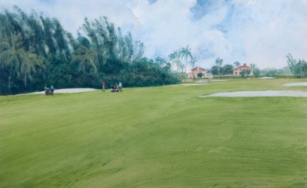 """Seminole"" c. 1978, Oil on paper, 14 x 22 inches, 22 x 32 inches, Signed"