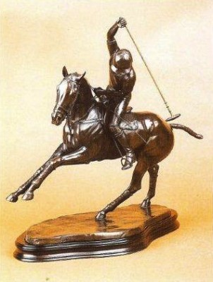 """Nearside Backhand"" Bronze, 37 x 42 x 16 cm"