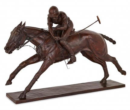 """Nearside Forehand"" Patinated Bronze, Edition 1/9, 30.7 x 50.4 x 18.1 inches, Signed and Numbered"