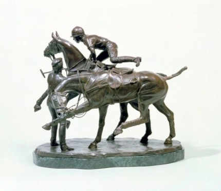 """Quick Change"" Bronze, Edition of 9, 9.75 x 11.75 inches, Base: 10.25 x 6.5 inches, Weight: 24.25 lbs, Signed"
