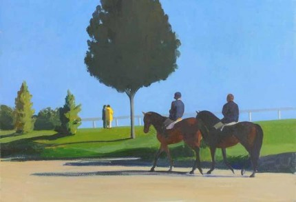 """Kentucky Horse Park"" 2006, Oil on canvas, 16 x 23 inches"