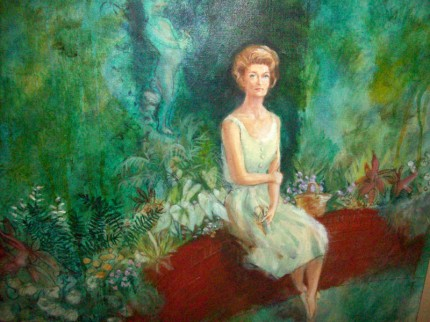 """Mrs. Eugene B. Sydnor"" Richmond, VA, 1962, Oil on canvas, Signed"
