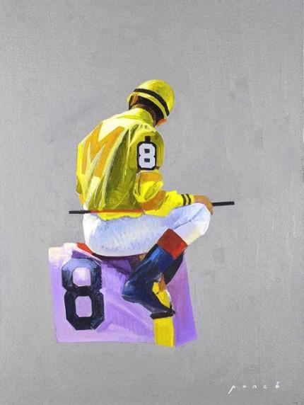 """""""Yellow Silks #8"""" 2005, Oil on canvas mounted on panel"""