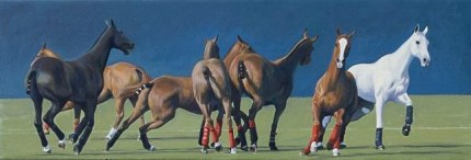 """String 22"" 2008, Oil on canvas, 12 x 36 inches, Signed"