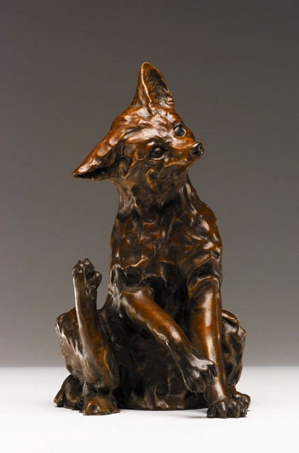 """Scratch"" Bronze, Edition of 25, 12 x 12 x 6 inches, Signed"