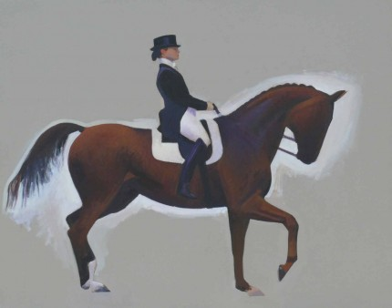 """The Equestrian"" 2006, Oil on canvas, 16 x 20 inches"