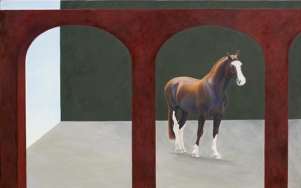 """Arches"" 1999, Oil on canvas, 60 x 84 inches, Signed"