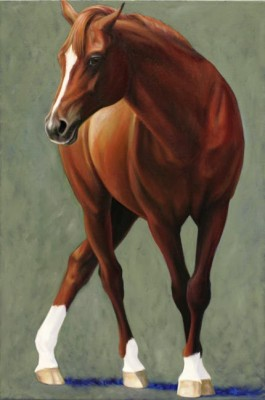"""Chaunter"" 2005, Oil on canvas, 30 x 20 inches, Signed"