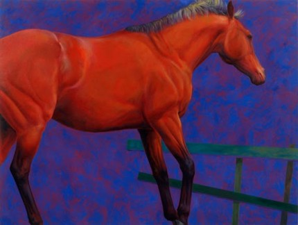 """Rataplan"" 1985, Oil on canvas, 76 x 96 inches, Signed"