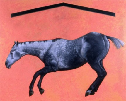 """Carnifex"" 1984, Oil on canvas, 96 x 120 inches, Signed"