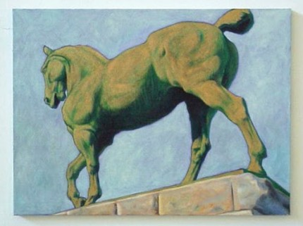 """Kaiser II"" 2000, Oil on canvas, 18 x 24 inches, Signed 