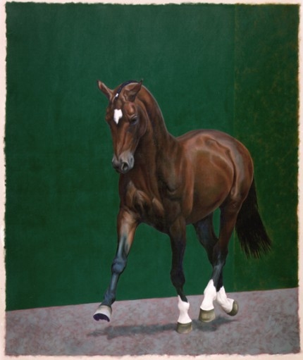 """Pawn (Peron)"" 1998, Oil on unstretched canvas, 96 x 72 inches, Signed"