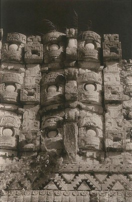 """""""Palace of Masks (Kabah)"""" Toned gelatin silver print, 9 x 6 inches, Signed & Matted"""