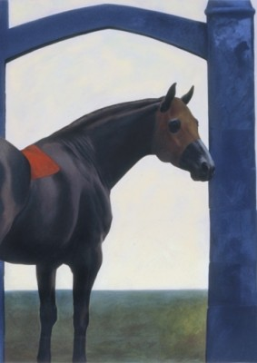 """St. Andrews"" 1986, Oil on canvas, 74 x 60 inches, Signed"