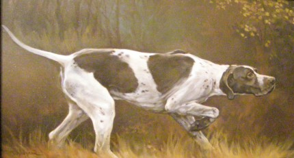 """Pointer"" Oil on panel, 9.25 x 15.25 inches, Signed"
