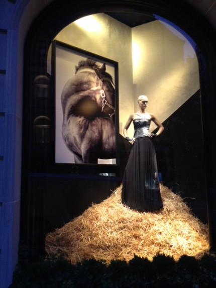 """Dynamic"" in Ralph Lauren window"