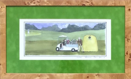 """""""The 20th Hole"""" Limited edition print, 15 x 12.5 inches, 10.5 x 17 inches, Signed lower right"""