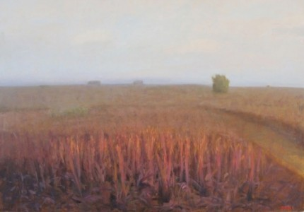 """Bull Pasture Dusk, Hollywood Ranch"" 2011, Oil on linen, 32 x 46 inches, Signed"
