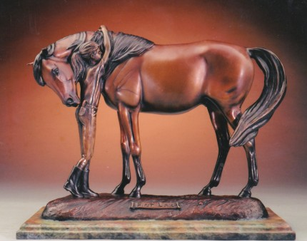 """First Love"" Edition: 2/27, Bronze, 14.5 x 7.25 x 12.25 inches, Signed"