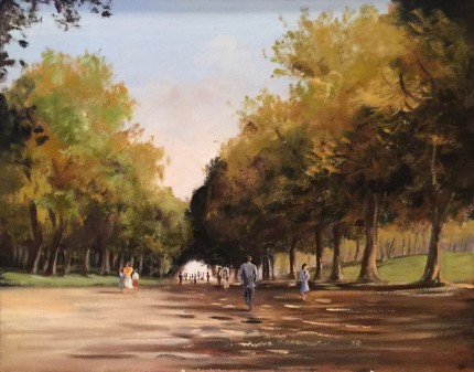 """""""Central Park"""" Oil on canvas, 24 x 30 inches, Signed lower right"""