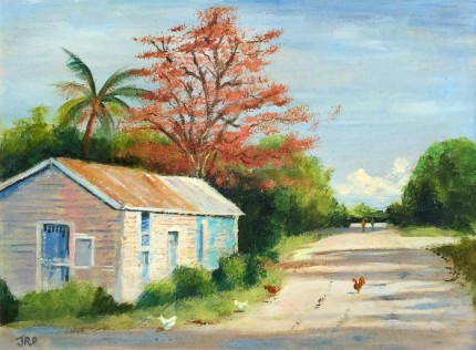 """""""Island Byway"""" Oil on canvas, 12 x 16 inches, Signed lower left"""