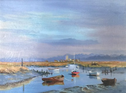 """""""Low Tide"""" Oil on canvas, 12 x 16 inches, Signed lower right"""