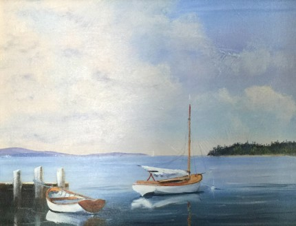 """""""Soon to Set Sail"""" Oil on canvas, 16 x 20 inches, Signed lower left"""