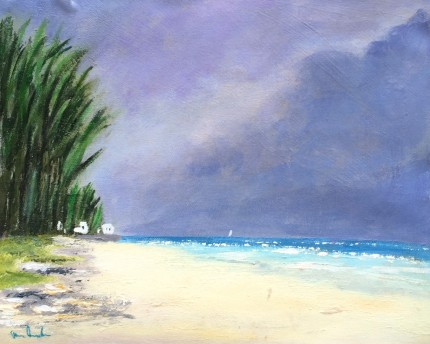 """""""Storm Brewing"""" Oil on canvas, 12 x 16 inches, Signed lower left"""