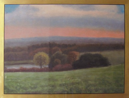 """Weathersfield"" 2004, Limited Edition Print, Artist Proof, 27.5 x 35.5 inches, Hand Gilded 22 kt Gold Border, Signed & Inscribed"