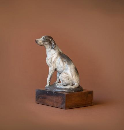 """Seated Hound"" Bronze"
