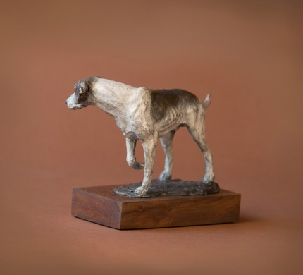 "Peggy Kauffman ""Standing Hound"" Bronze"