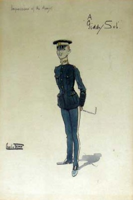 """A Giddy Sub"" c.1905, Original watercolour with ink outline, 10 x 7 inches, Titled and signed in ink, Signed Charlie Payne"