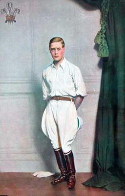 1. PRESIDENT OF THE BRITISH EMPIRE EXHIBITION: H.R.H. THE PRINCE OF WALES, Painted Photographic Portrait, 19 x 12 inches