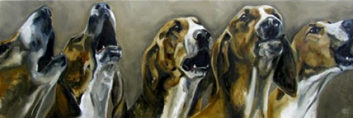 """""""Laumance"""" Oil on linen, 12 x 35 inches, Signed"""