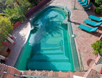 Secret Garden Mosaic at the Vreeland's Residence in Marrakech, 18 x 36 foot swimming pool