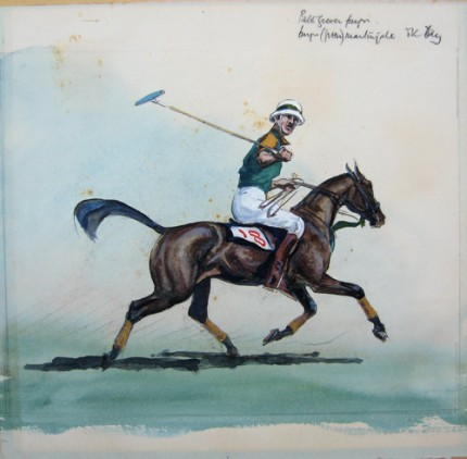 """""""Ok Try"""" c. 1973, Gouache on paper, 11.5 x 11.5 inches, Private Collection 