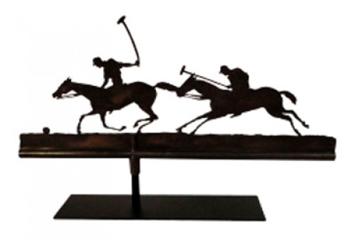 """Polo Players Weathervane from NYC"" Early 20th Century, 16 x 25 x 4 inches"